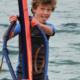 Sil op een windsurfplank